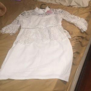 Beautiful white dress with lace